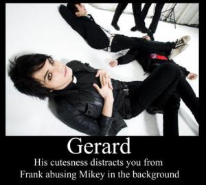 band, frank iero, funny, gerard way, lol, mcr, mikey way, my chemical ...