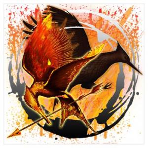 Flight of Mockingjays Hunger Games Gear Wall Art