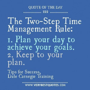 Time management rule