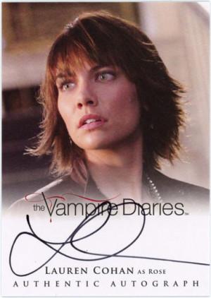 Lauren Cohan Autograph Card