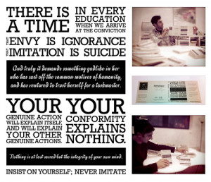 Quotes Emerson Self Reliance ~ May | 2011 | Alex Miles Younger