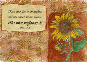 Inspirational Quotes About Sunflowers Inspirational handmade cards