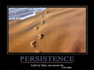 Persistence Little by little, one travels far.