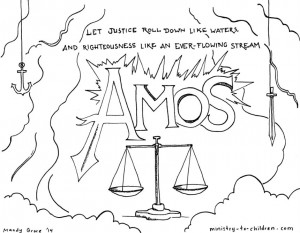 This free coloring page is based on the book of Amos. It's one part ...