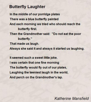Laughter Poems Quotes Butterfly Laughter Poem by