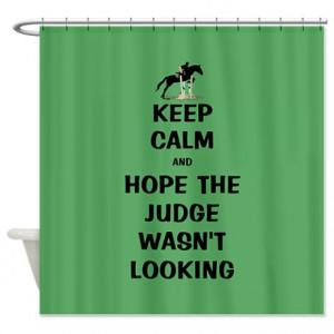 ... Eventing Bathroom Décor > Funny Keep Calm Horse Show Shower Curtain