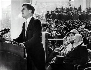 john fitzgerald kennedy takes office as the 35th president of the ...