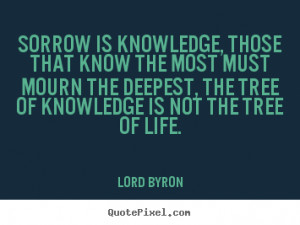 ... mourn the deepest, the tree of knowledge is not the tree of life