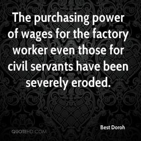Best Doroh - The purchasing power of wages for the factory worker even ...