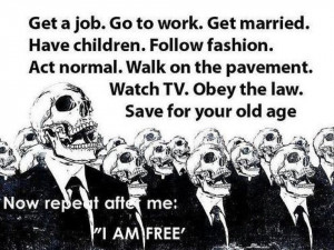 ... Watch TV. Obey the law. Save for your old age.Now repeat after me: