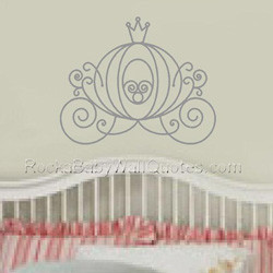 2150 CINDERELLA'S CARRIAGE Girls Wall Decal