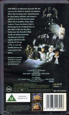 Star Wars [1977] - 1994 VHS back cover