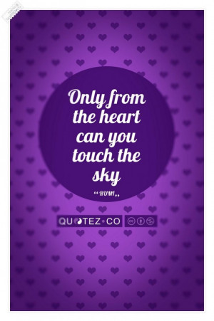 Touch the sky purple quote