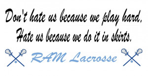 funny lacrosse slogans