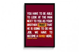 Lebron James Cleveland Cavaliers Inspirational Trust Quote Poster ...