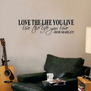 Hot-Selling-Bob-Marley-Quote-Wall-Decals-Decor-Love-Life-Words-Large ...