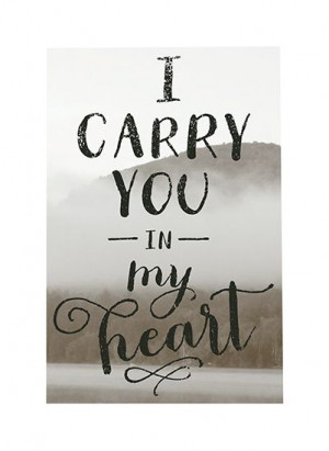 Art Prints - I Carry You in My Heart by b.wise papers, minted.com