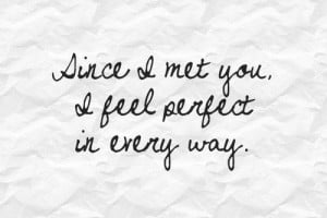 Im so glad i met you love quotes messages