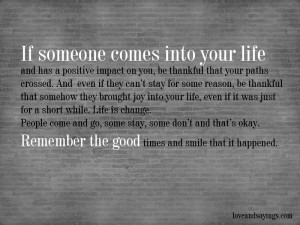 Positive impact on you
