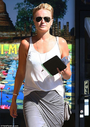 Not as relaxing as she had hoped Malin Akerman emerged from what was