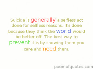 Sad Quotes About Suicide Sad suicide quotes