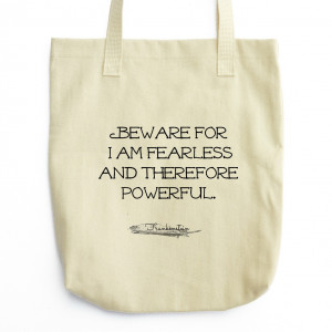 Frankenstein Tote - Book Bag - Mary Shelley Quote