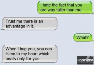 cute, heart, heartbeat, hug, love, taller, text, you