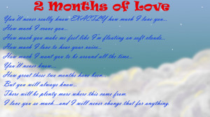 2 Month Wedding Anniversary Gift : Month Anniversary Quotes Happy One Month Quotes 4 Month Anniversary ...