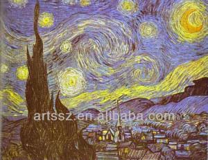 Van gogh noche estrellada de arte famosas de reproducción de la ...