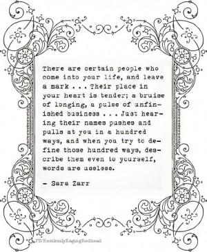 Sara Zarr quote