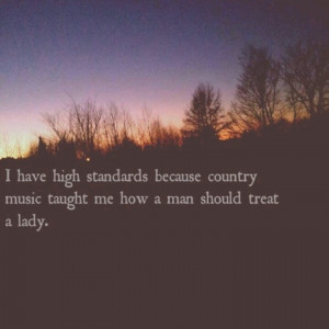 Might not have a country man. But I have a man who loves country LOL!