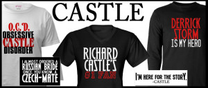 Castle tv show gifts, including Castle t-shirts, bumper stickers, and ...