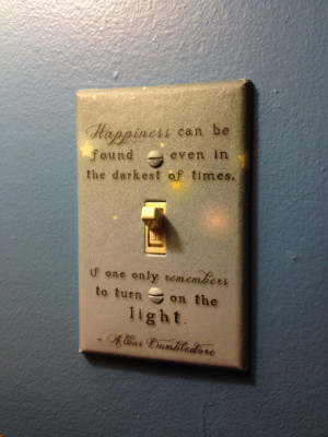 dumbledore light switch cover i love quotes especially quotes that