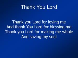 Thank You Lord by mrdildine