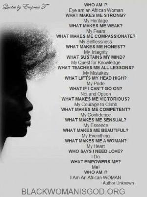 Black Woman Strong Black Woman