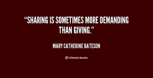 Quotes About Giving and Sharing