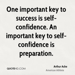 ... self-confidence. An important key to self-confidence is preparation