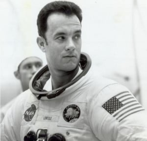Tom Hanks played Jim Lovell in the 1995 film about the Apollo 13 ...