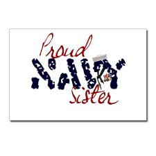 Proud Navy Sister Postcards (Package of 8) for