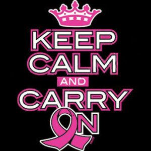 Keep Calm And Carry On – Breast Cancer – Apron