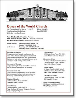 Church Bulletin Inserts for Free Download