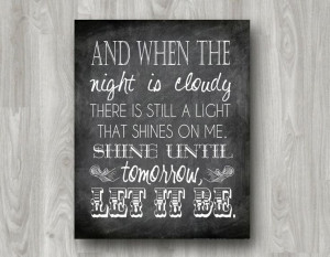 Let it Be Beatles Quote Subway Art PRINTABLE Many by scootapie, $5.00