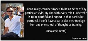 More Benjamin Bratt Quotes