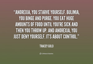 Bulimia Quotes And Sayings