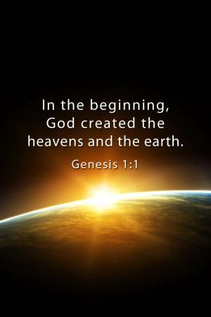 Genesis 1:1 - Bible Lock Screen