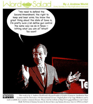 Ted Cruz joins Word Salad by making another inappropriate joke.