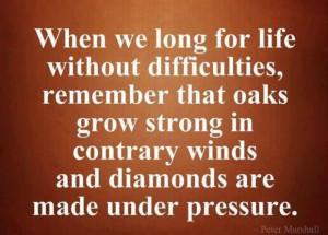 Diamonds are made under pressure