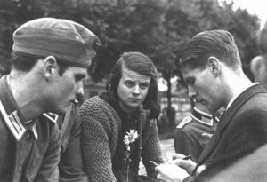 Hans Scholl, Sophie Scholl and Christoph Probst