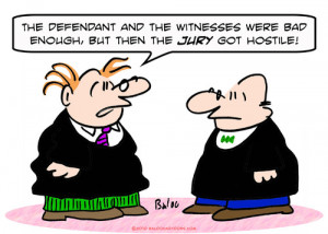 Cartoon Hostile Jury Judge...