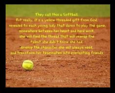 Softball Is Life Quotes Cool softball quote